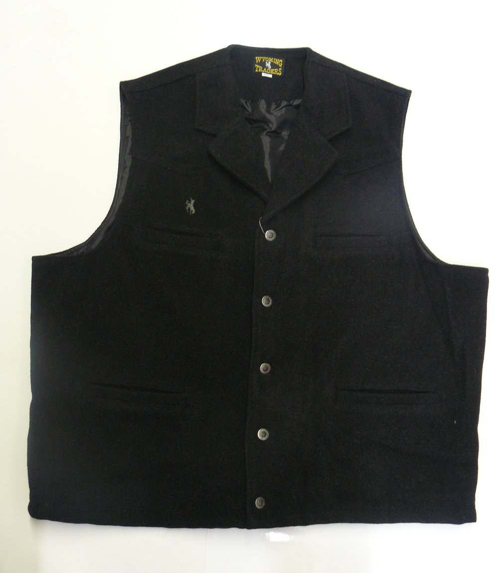 Wyoming Traders Men's Buckaroo Vest WY-Buckaroo-Charcoal-small-$P