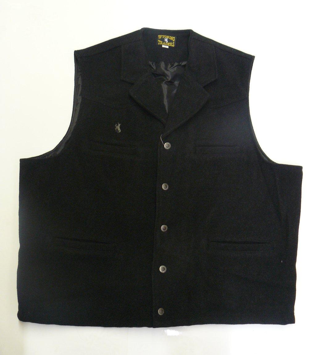 Wyoming Traders Men's Buckaroo Vest WY-Buckaroo-Charcoal-small-$P