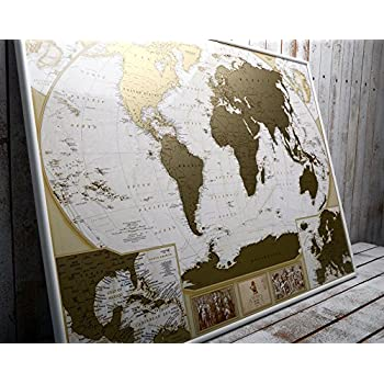 Amazon mymap deluxe large world scratch off map w enlarge mymap deluxe large world scratch off map w enlarge europe and caribbeans map 35 gumiabroncs Images