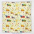 59 x 59 Inches Kids Decor Fleece Throw Blanket Construction Machines Toys Print Colorful Dots Lorry Digger Truck Tractor Themed Party Decorations Blanket