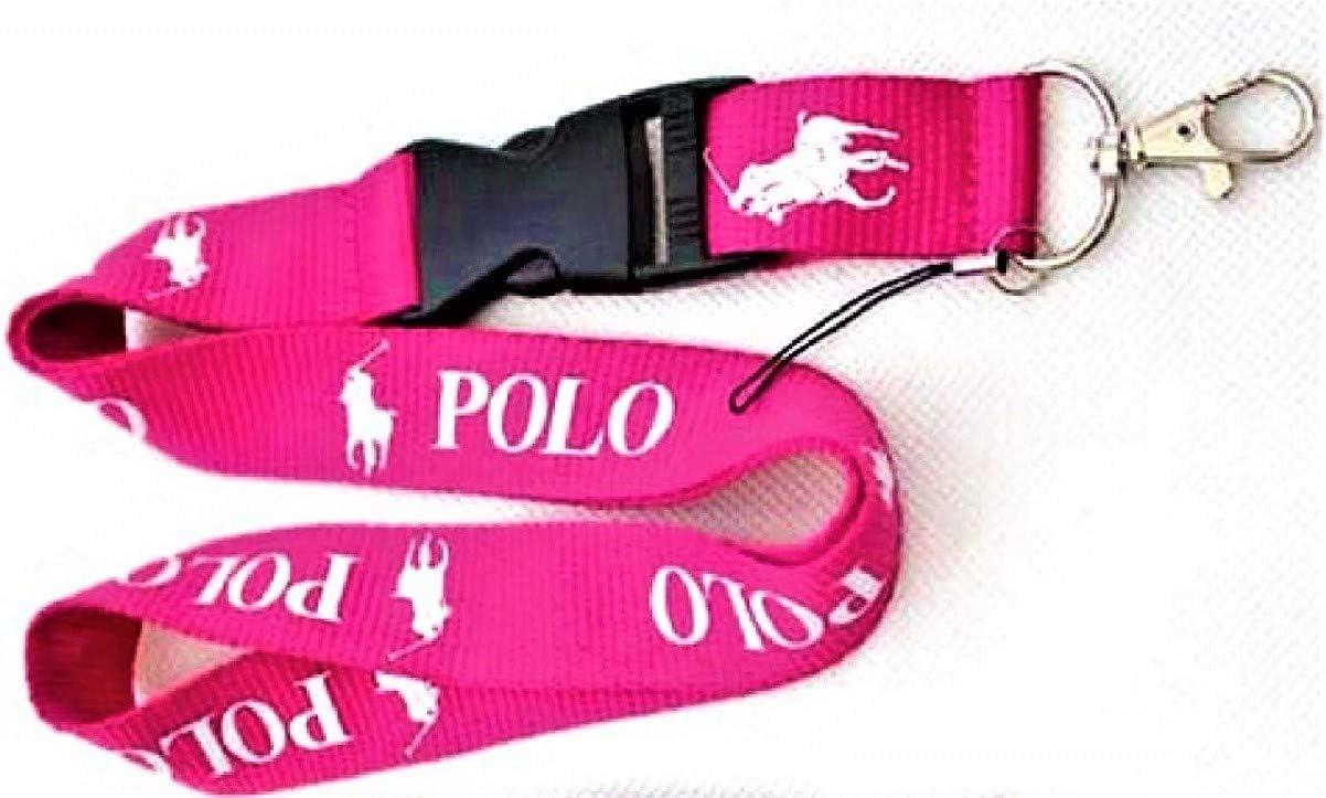 Llavero Lanyard Polo Rosa Deporte Moda Badge Correa para el Cuello ...