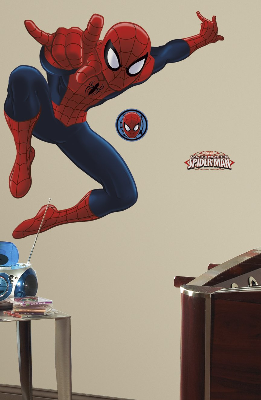 Roommates rmk1796gm ultimate spiderman peel and stick giant wall roommates rmk1796gm ultimate spiderman peel and stick giant wall decal decorative wall appliques amazon amipublicfo Images