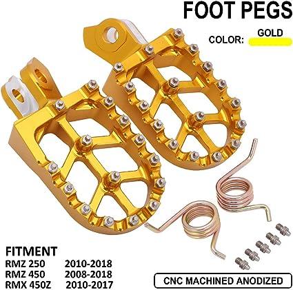RMZ250 RMZ450 RMX450Z 2008 TO 2018 BILLET ALLOY FOOT PEGS RED