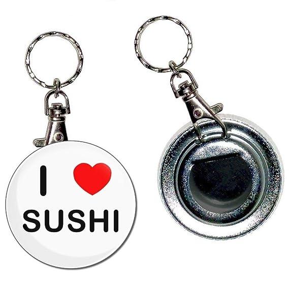 BadgeBeast.co.uk I Love Sushi - Llavero con abridor de ...