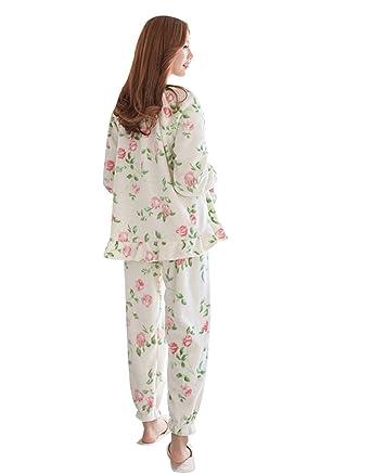 c8998d4611ea QPALZM Mink Cashmere Winter Korean Princess Wind Printing Loose Pajamas