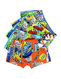 2-8 Years Old Boys Funny Spiderman Boxer Briefs Colorful Cotton Underwear 5 Multipack