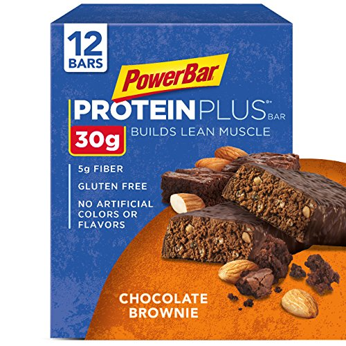 PowerBar Protein Plus Bar, Chocolate Brownie,  12 count, 3.28 oz Bar, (Pack of 12) (Best 30 Gram Protein Bars)
