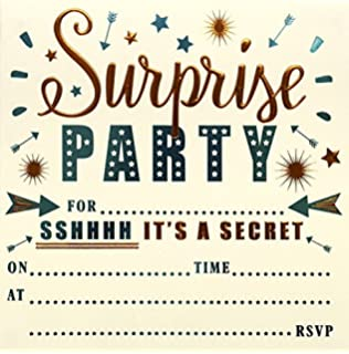 30 SURPRISE PARTY INVITATIONS Personalised for You Card Surprise