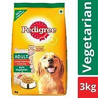 Pedigree Adult Dry Dog Food, Vegetarian – 3 kg Pack