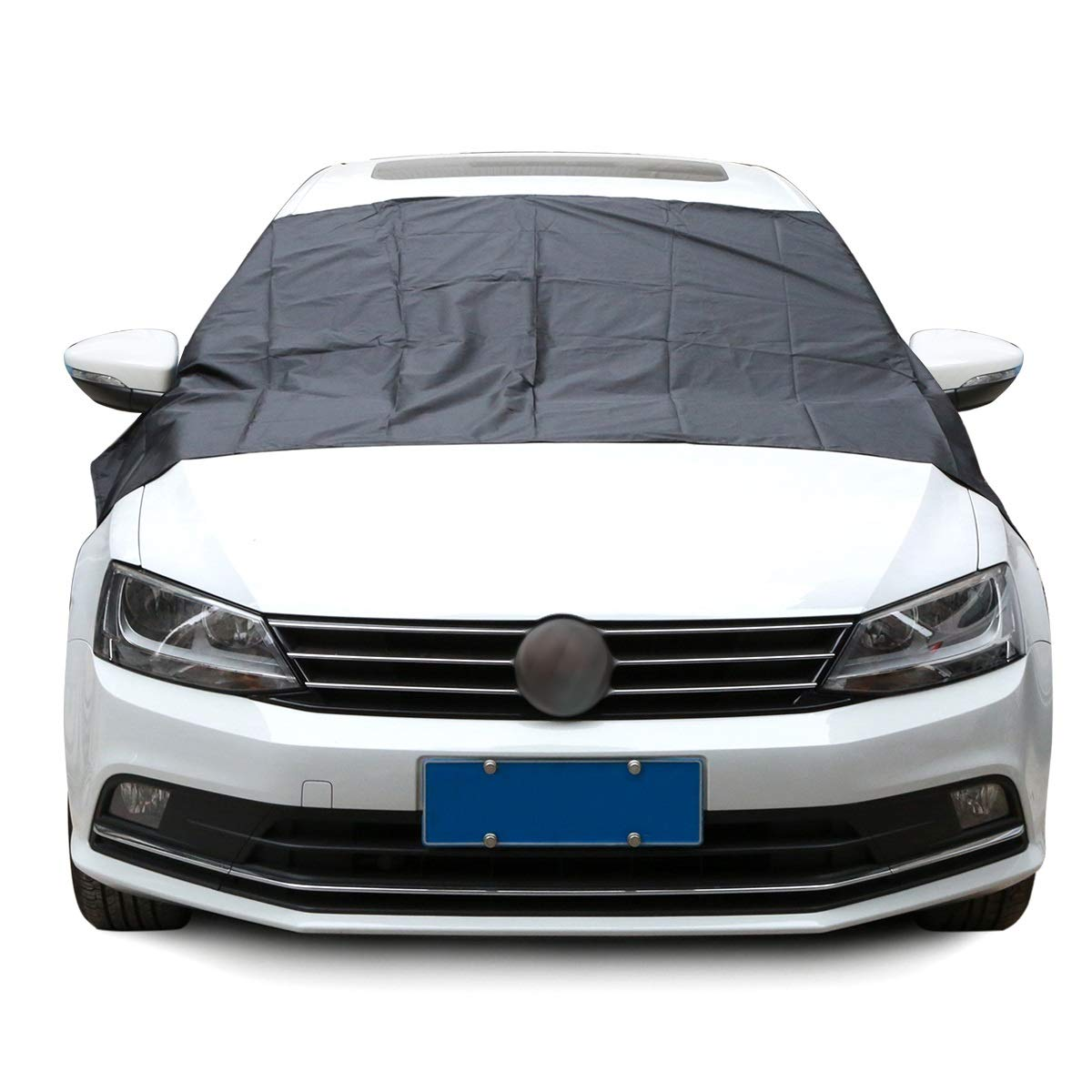 Window Cover for Car Sunshade Snow Covers with Magnet stciker Reflective Foil Suitable for All Car Windshield Prevent Frost/Mist Anti-UV (Color : Black)