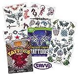 Savvi Tribal Tattoos Assortment ~ 2 Bags ~ 72 Assorted Designs