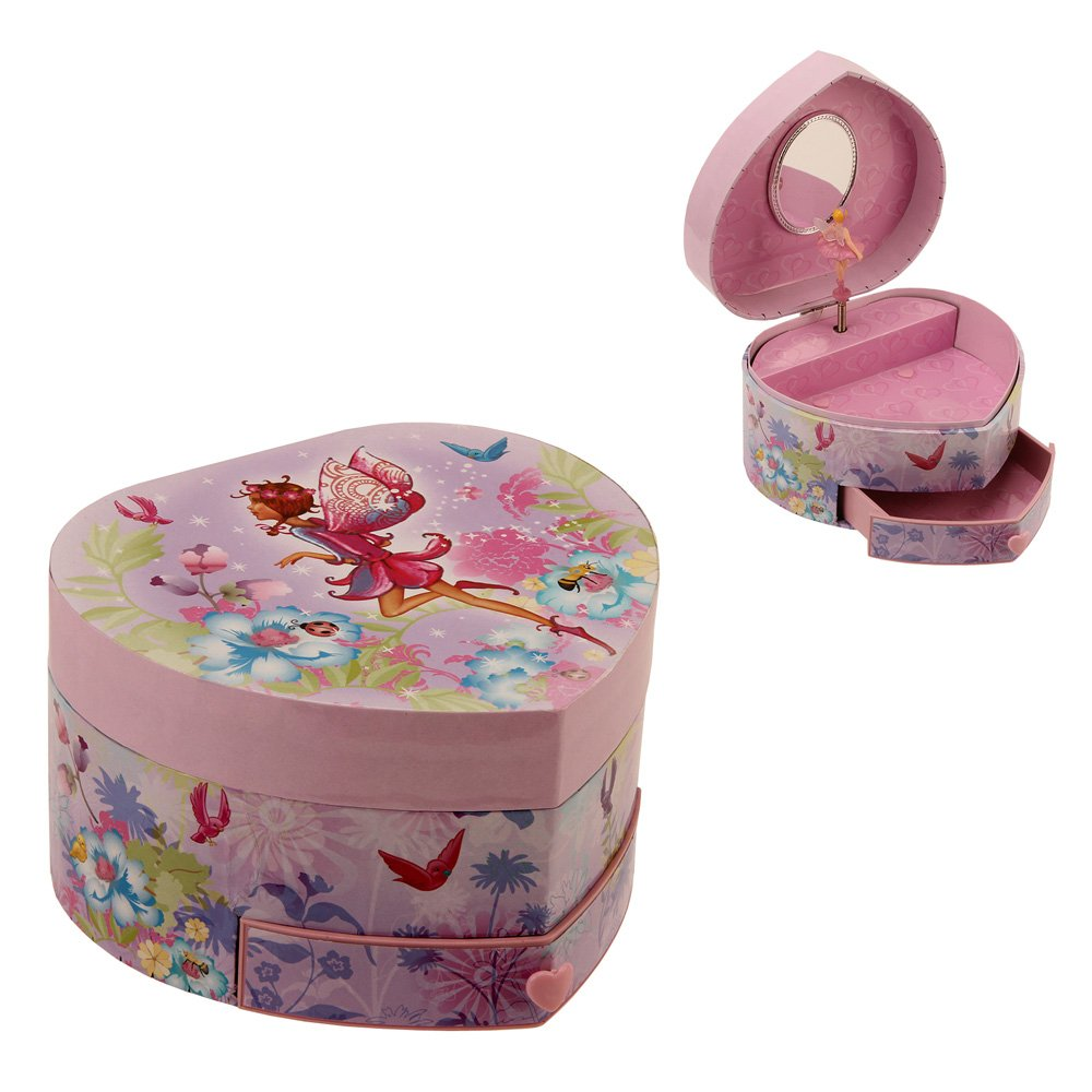 新しいコレクション Heart Shaped Musical Fairy Girl Jewelry Box B00LGQJX8M with with Drawer by By Haysom Interiors by Haysom Interiors B00LGQJX8M, カドガワチョウ:3356399d --- narvafouette.eu