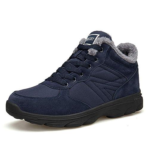TORISKY Hombre Mujer Botas de Nieve Invierno Aire Libre Zapatos Impermeable Antideslizante Calientes Botines Planas 36-46EU: Amazon.es: Zapatos y ...