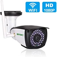WiFi Camera Outdoor, SV3C Wireless Security Camera, 720P HD Night Vision Bullet Cameras, Waterproof Surveillance CCTV, IR LED Motion Detection IP Cameras for Indoor Outdoor, Support Max 128GB SD Card
