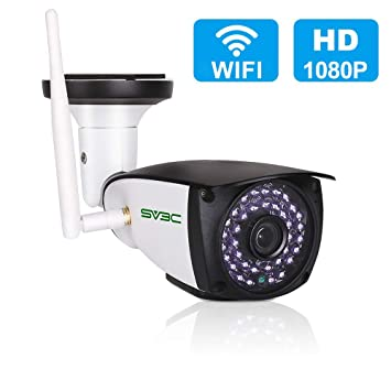 [Updated Version] WiFi Camera Outdoor, SV3C 1080P HD Two Way Audio Security Camera, Motion Detection CCTV, IR LED Night Vision Surveillance IP Cameras ...