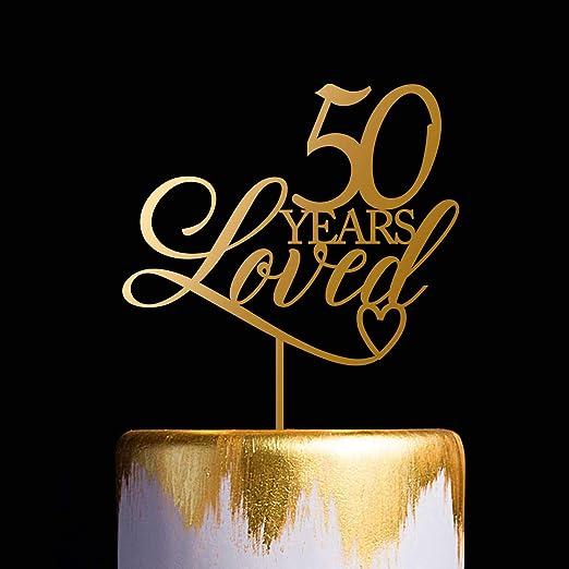 Decoración para tartas de 50 años con diseño de 50 ...