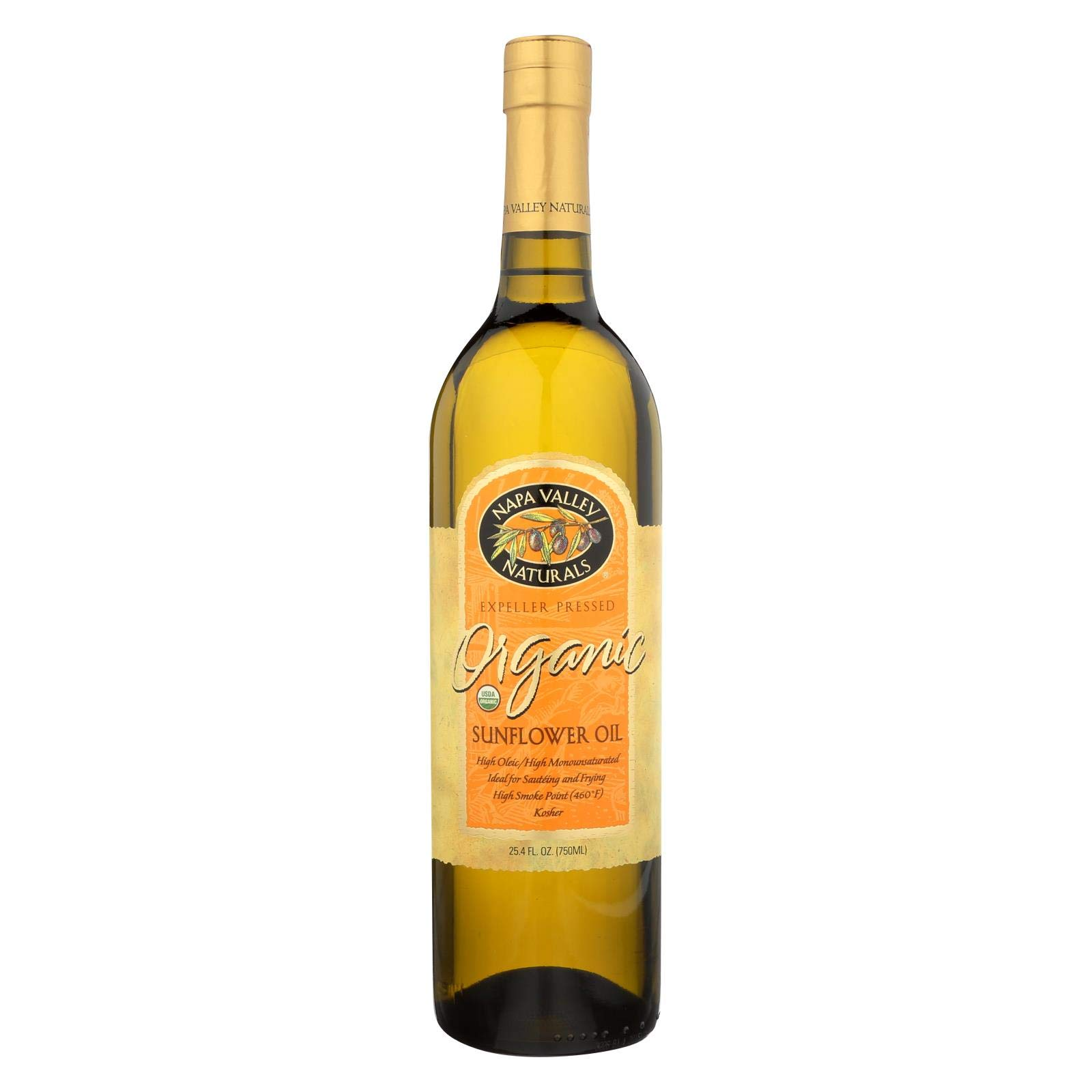Napa Valley Naturals Organic Sunflower Oil, 25.4 Fluid Ounce -- 12 per case. by Napa Valley Naturals