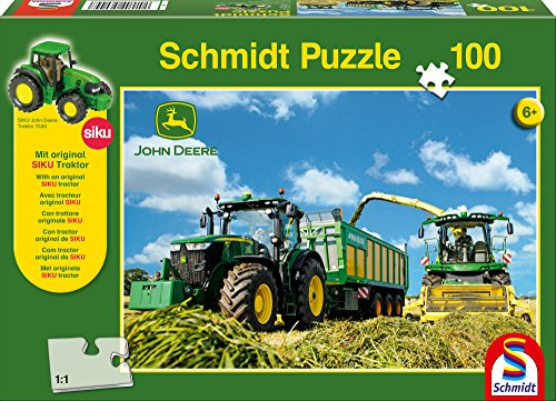 (Tractor 7310R with Forage Harvester: Children's Schmidt Jigsaw Puzzle 100 piece )