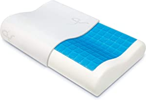 The Winner 2020 Patented Contour Pillow with Cooling Gel - Hypoallergenic Memory Foam Pillow with CoolGel - Perfect for Side/Back/Stomach Sleepers - Doctor Designed/CertiPUR Certified