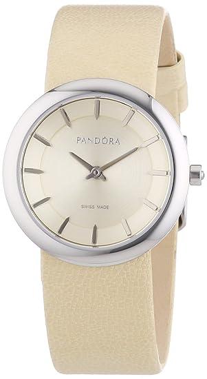 Pandora 811016LG - Reloj analógico de mujer de cuarzo con correa de piel beige: Amazon.es: Relojes