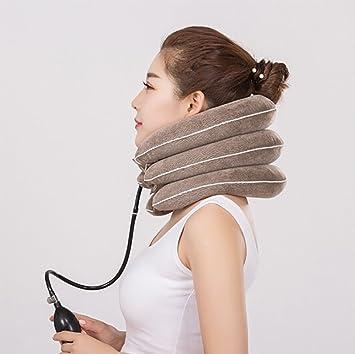 JZQY Hals Zugvorrichtung Aufblasbare Halswirbel Hals Traktion Ger/ät F/ür Kopf R/ücken Schulter Nackenschmerzen
