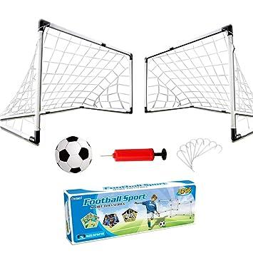 Yimore 2er Set Kinder Fussballtore Mit Fussball Tore Und Pumpe Fussball Interaktiv Minitore Spielzeug Sportspass Fur Garten Indoor