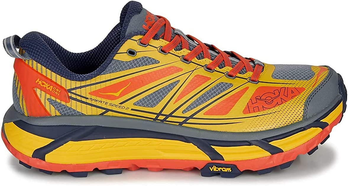HOKA ONE One Mafate Speed 2 Deportivas Hommes Amarillo/Rojo Running/Trail: Amazon.es: Zapatos y complementos