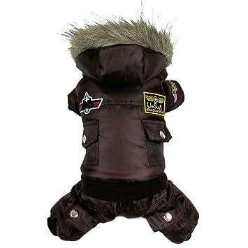 Zn frío invierno mantener cálida sudadera con capucha perro chaqueta de abrigo impermeable mascotas ropa Apperal: Amazon.es: Productos para mascotas