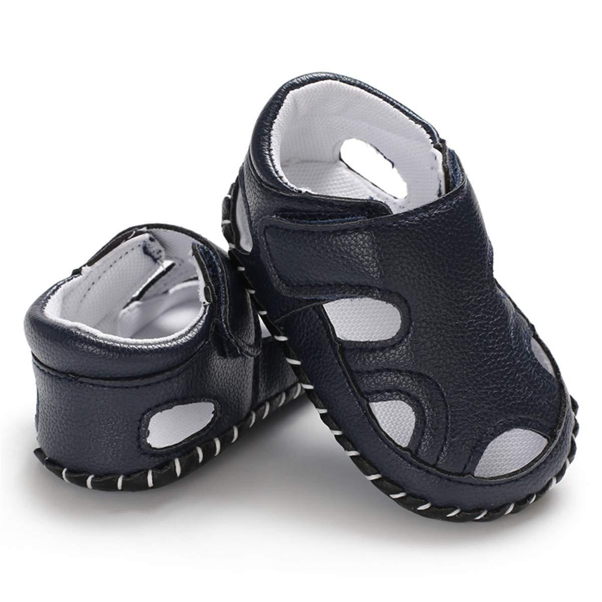 Baby Boys Girls Summer Sandals Soft Sole Anti-Slip Toddler First Walker Infant Newborn Crib Shoes