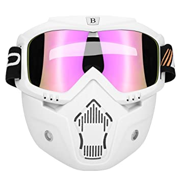 fd331376c887db Qiilu Goggle Lunettes Masques et lunettes Ski Lunettes de protection pour  Extérieur Activité Moto Cross Google