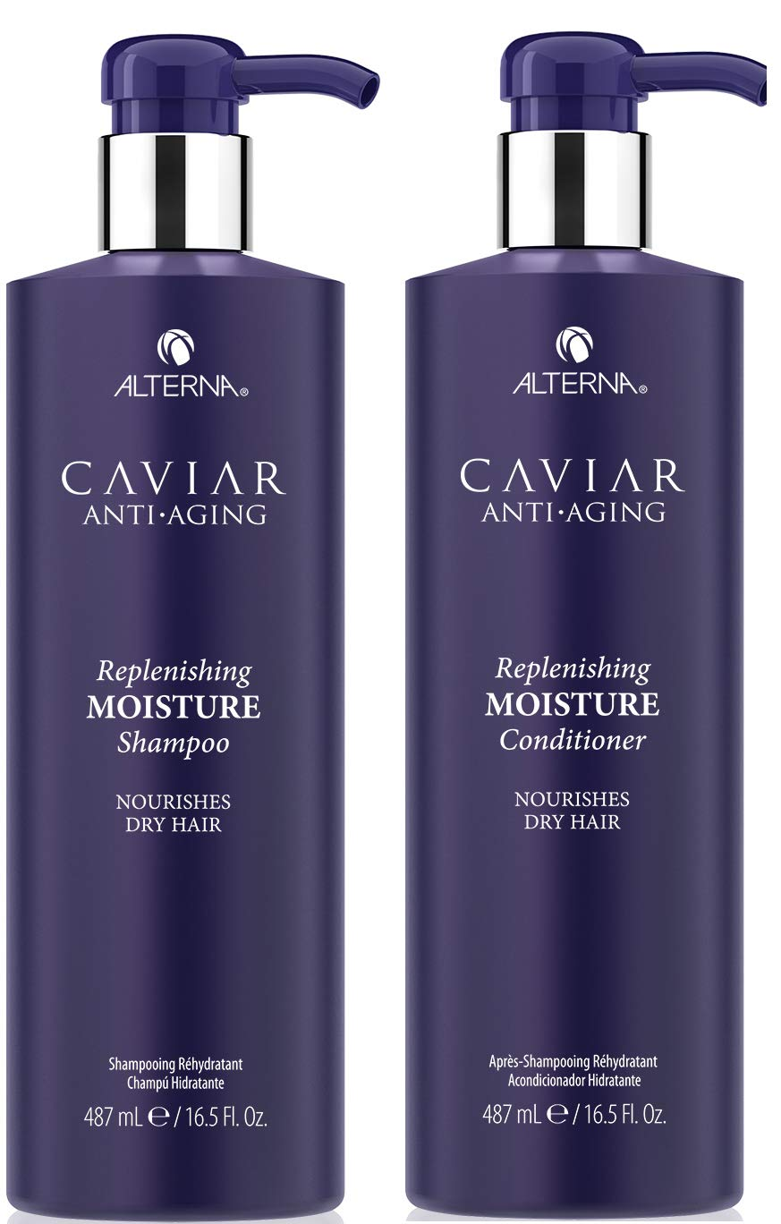 Caviar Anti Aging Replenishing Moisture Shampoo and Conditioner Set, 16.5 Ounce (Packaging May Vary) by Caviar