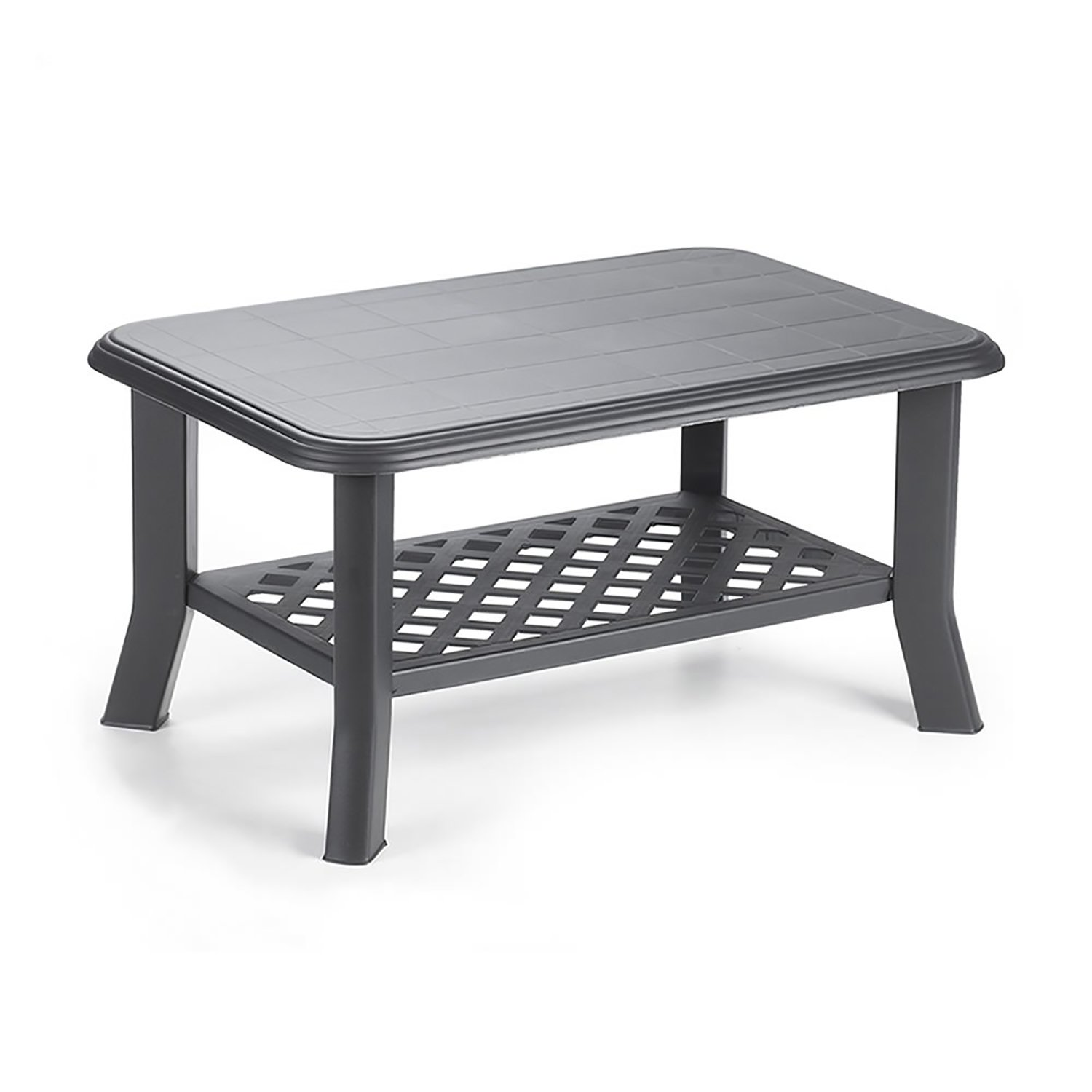 Miraculous Mojawo Rectangular Garden Table 90 X 60 Cm Charcoal Grey Onthecornerstone Fun Painted Chair Ideas Images Onthecornerstoneorg