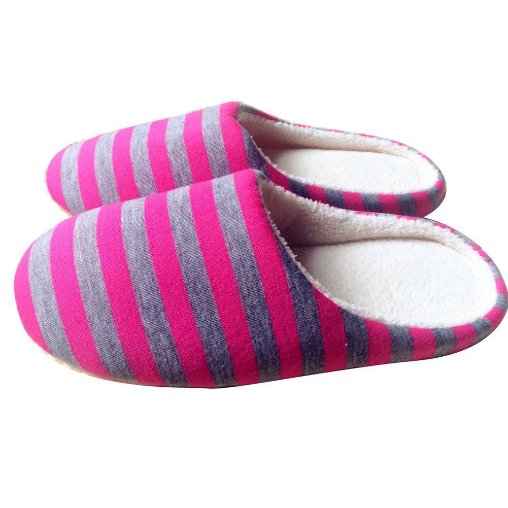 Qiao Nai (TM Femme Homme Pantoufles Chaussures Chaussons Coton Hiver Chaud Mule Antidérapant Souple Maison