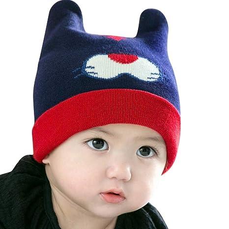 Gorra Bebe, mamum invierno cálido Gorros gancho tejer sombrero ...