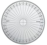 Graphoplex gx115d Full Circle Protractor Clear