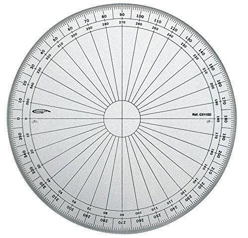 Graphoplex gx115d Full Circle Protractor Clear