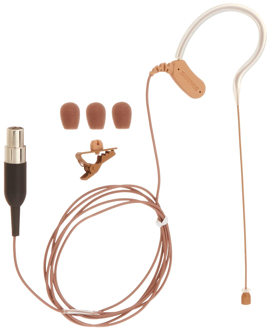 Shure MX153C/O-TQG Omnidirectional Earset Headworn Microphone, Cocoa by Shure