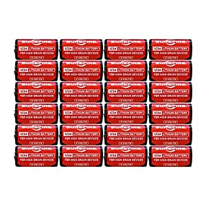 4 X Surefire 6 Pack 123A Lithium Batteries