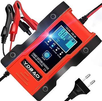 Ydbao Autobatterie Ladegerät 6a 12v 24v Für Effiziente Lagerungs Und Reparaturfunktionen Von Lifepo4 Wie Automatischem Moto Und Lithium Bleioxid Auto