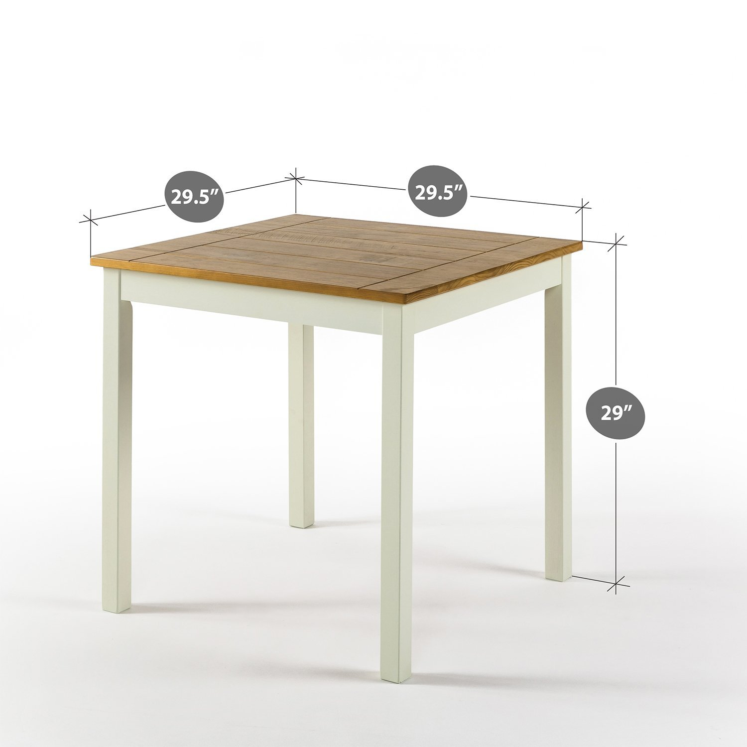 Zinus Farmhouse Square Wood Dining Table by Zinus (Image #3)