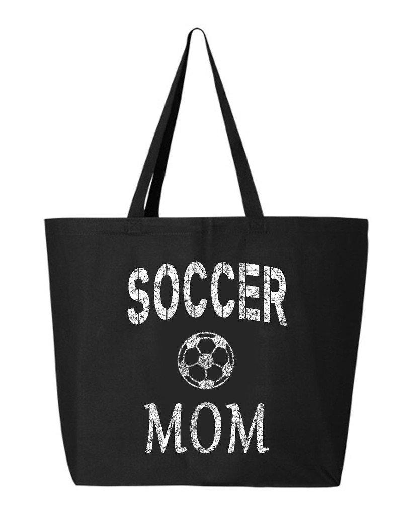 新品?正規品  shop4ever Soccer oz Mom ブラック Heavyキャンバストートバッグ母の日再利用可能なショッピングバッグ10オンスジャンボ 25 ブラック|2 oz レッド S4E_1215_SoccerMom_TB_Q600_Red_1 B06XX3M21X ブラック ブラック|2, トマト屋:350398dd --- mcrisartesanato.com.br