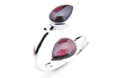 Ring Silber 925 Sterlingsilber Granat rot Stein