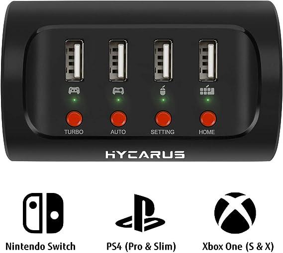 HYCARUS Adaptador de teclado y mouse con convertidor de ...
