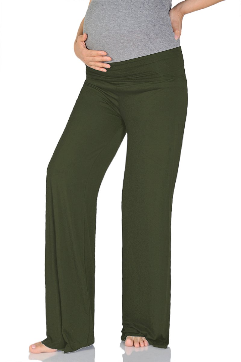 Beachcoco Women's Maternity Wide/Straight Comfortable Pants Made in USA