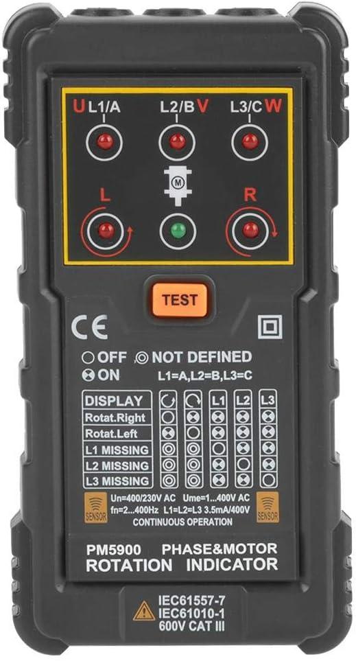 r/éparer ou entretenir un syst/ème 3 phases ou un moteur Peakmeter PM5900 Moteur 3 phases Indicateur de rotation de moteur Testeur portable Outil n/écessaire pour installer