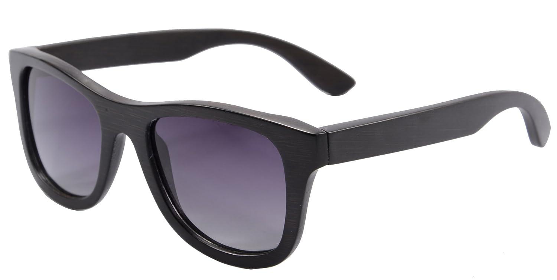 1d7a0e4c617 Amazon.com  SHINU Genuine Handmade Wood Sunglasses Anti-glare Polarized  Bamboo Layer UV400 Glasses-Z6016(bamboo black