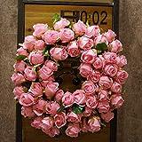 SogYupk Decorative Seasonal Front Door Wreath Handcrafted Wreath Outdoor Display in Fall, Winter, Spring Summer