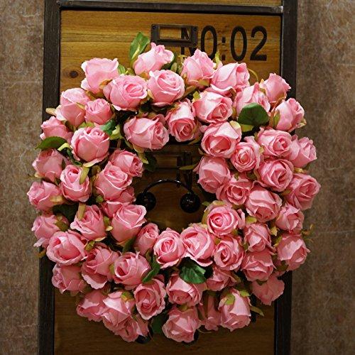 SogYupk Decorative Seasonal Front Door Wreath Handcrafted Wreath Outdoor Display in Fall, Winter, Spring Summer by SogYupk