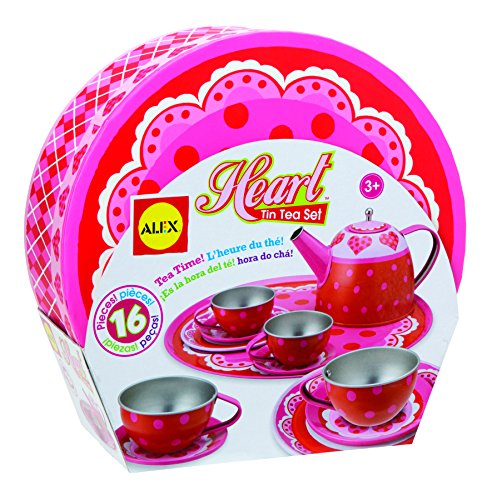 ALEX Toys Heart Tin Tea Set (Alex Tea)