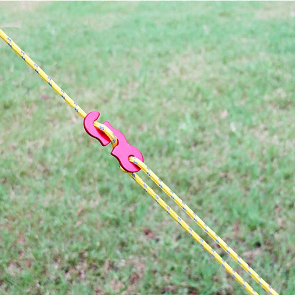 OurLeeme Cuerdas Tipo Tienda de campa/ña Paquete de 4 mm L/ínea Reflectante Cuerda gu/ía Tienda de campa/ña con ajustador de Aluminio